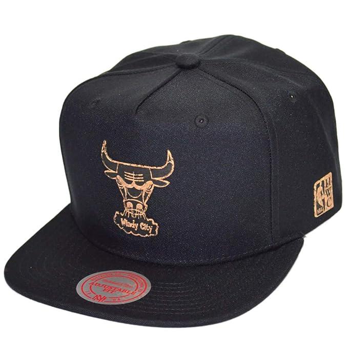 Mitchell & Ness Gorras Chicago Bulls Cork Black Snapback