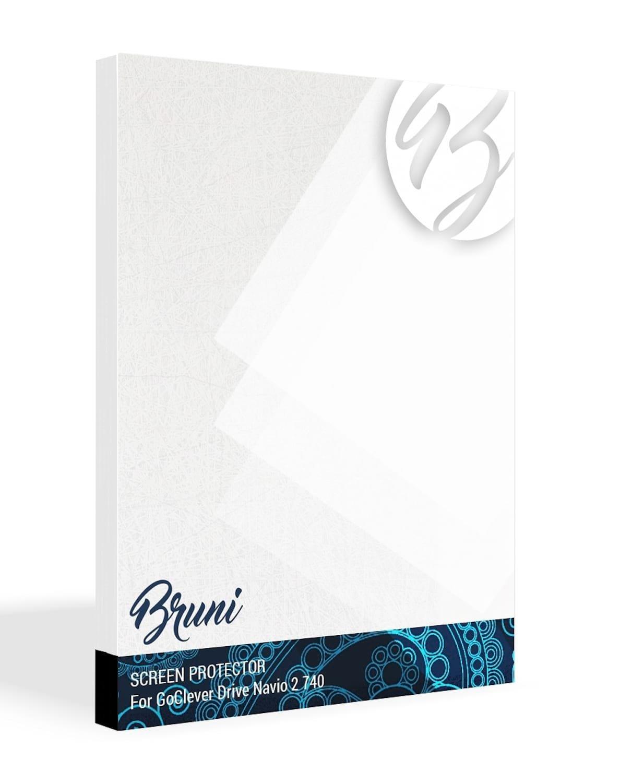 Bruni Protecteur d'écran pour GoClever Drive Navio 2 740 Film Protecteur, Cristal Clair Écran Protecteur (2X)