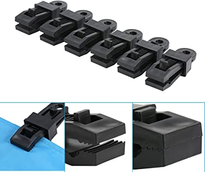 6Pcs Plastic Tarp Clips Clamps Great for Camping Canopies Tents Outdoor Activities