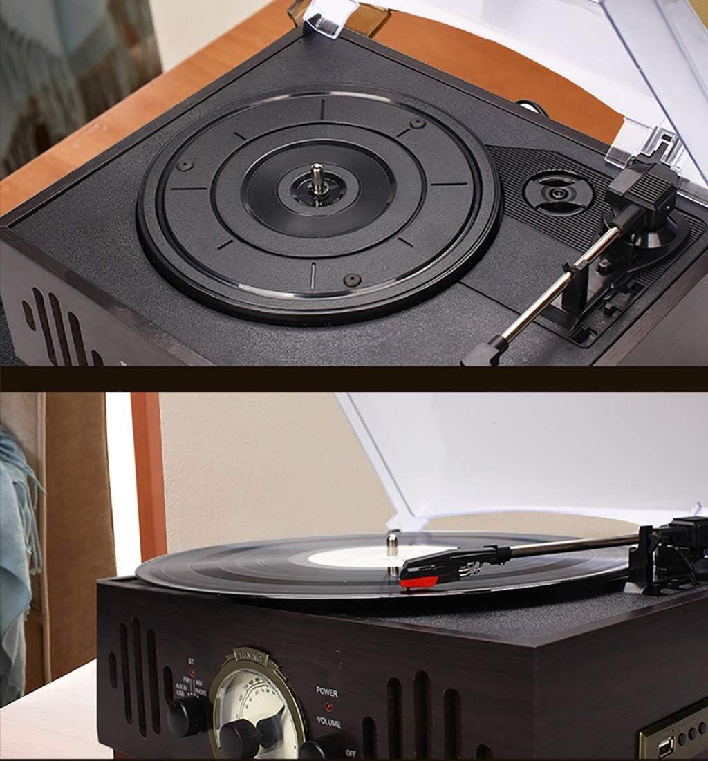 Cpjac Tocadiscos Fonógrafo Retro Multifunción Disco de Vinilo ...