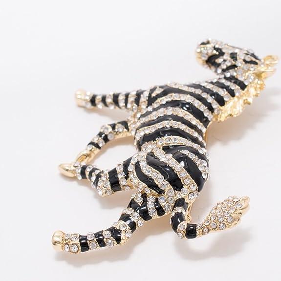 Rhinestone Crystals Horse Zebra Brooch Pin Broach Women Jewelry FA5084 ft8844