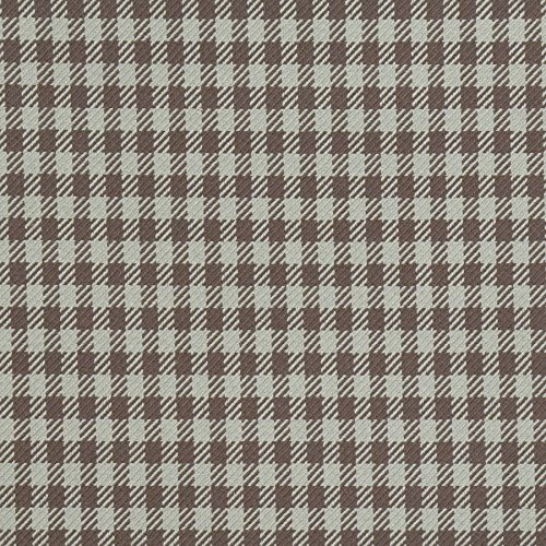 Sherwood Brown Aqua Teal Herringbone Houndstooth Small Scale Woven Check Plaid Wovens Solids Small Scale Patterns Upholstery Fabric by the yard
