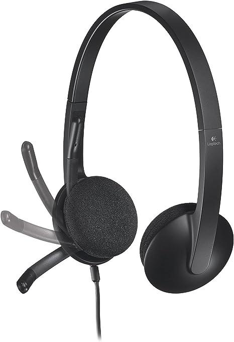 Logitech Usb Headset H340 Stereo Usb Headset Für Windows Und Mac Zertifiziert Aufgearbeitet Computer Zubehör