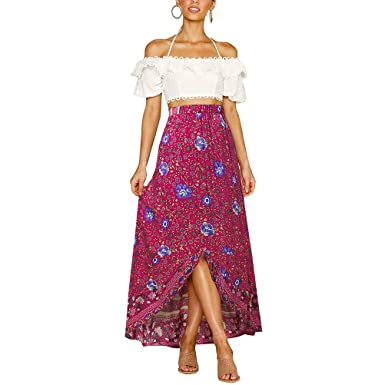Falda Moda Mujer Elegante Verano Mujer Pequeño Floral Mode De ...