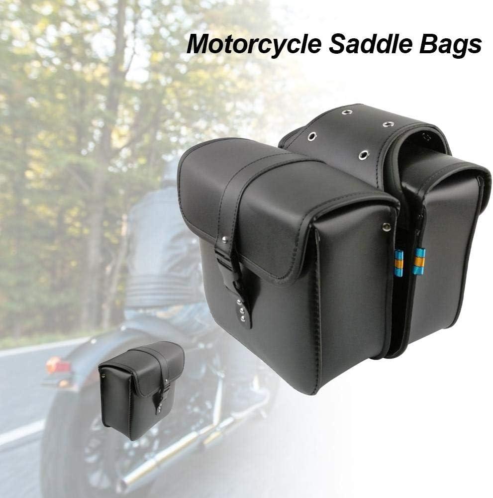 Satteltaschen Motorrad Seitentaschen Motorrad Tasche Satteltasche Saddle Bag Motorrad Satteltaschen Universal PU Ledersatteltaschen Motorradzubeh/ör F/ür Honda Shadow Suzuki