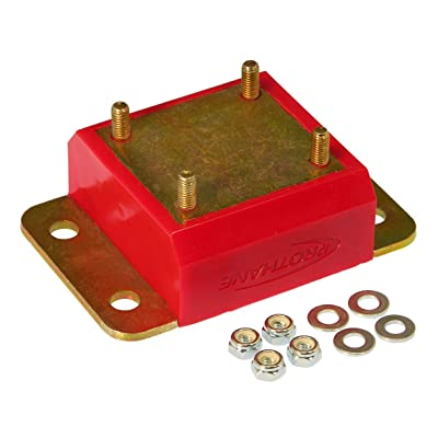Prothane 1-1601 Red Transmission Mount Kit for TJ: Automotive