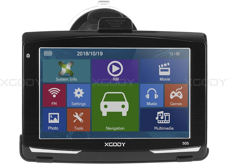 Xgody 505 Kfz Sat Nav Gps Navigationssystem 12 7 Cm 128 Gb 8 Gb Auto Satelliten Navigator Bluetooth Postleitzahlensuche Geschwindigkeitskamera Vorinstalliert Uk Und Eu Karten Lebenslange Kostenlose Updates Navigation