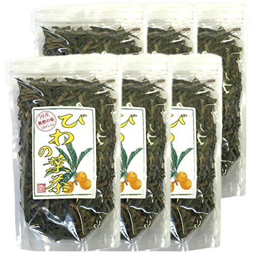 Japanese Tea Shop Yamaneen Loquat-Tea Leaf Of A Without Agricultural Chemicals Non Caffeine 100G x 6packs by Japanese Tea Shop Yamaneen