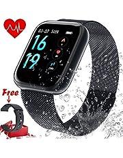Fitness Tracker Cardiofrequenzimetro, Tracker attività impermeabile IP68 Smart Watch e contapassi Tracker