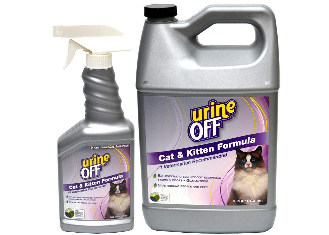 Urine Off Cat & Kitten Odor and Stain Remover Gallon & Spray Combo by urineOFF