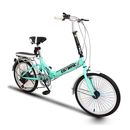 XQ Bicicleta Plegable Bicicleta Ultralight Portátil Mini Pequeña Velocidad Variable Mojadura 20 Pulgadas Adulto Bicicleta para