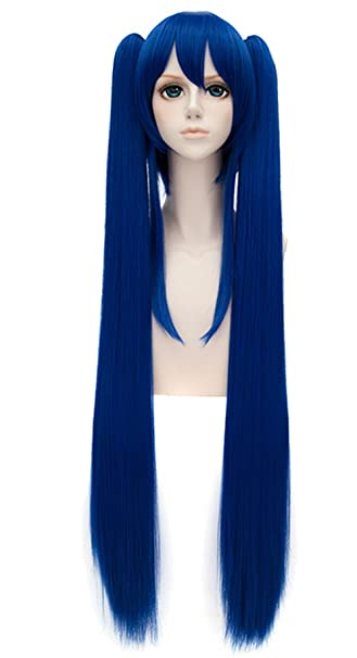 Amazon Com Springcos Wendy Marvell Wig Cosplay Fairy Tail Ponytails