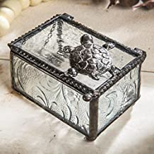 J Devlin Box 331 Turtle Trinket Box Stained Glass Jewelry Keepsake Box Home Decor