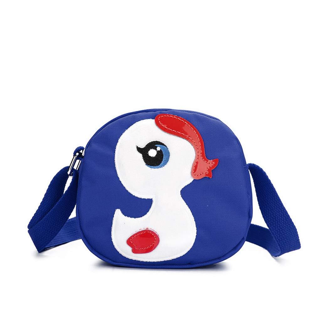 Exing Sac à bandoulière Duck Baby Cartoon Sac bandoulière pour Enfants Sac à Dos pour Enfants et Enfants (Bleu)