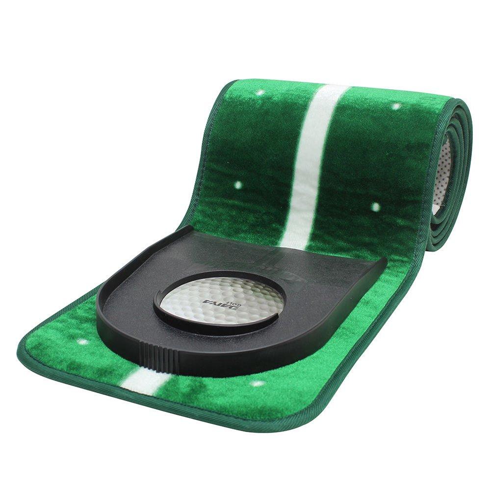 GOLFAMI Slim Putting Mat 2 Type Green 9.5/11.5 feet Anti-slip Mat + Hole Cup GOLFAMIスリムパットマット2タイプグリーン9.5/11.5フィート滑り止めマット+ホールカップ [並行輸入品]   B07CCM6CJH