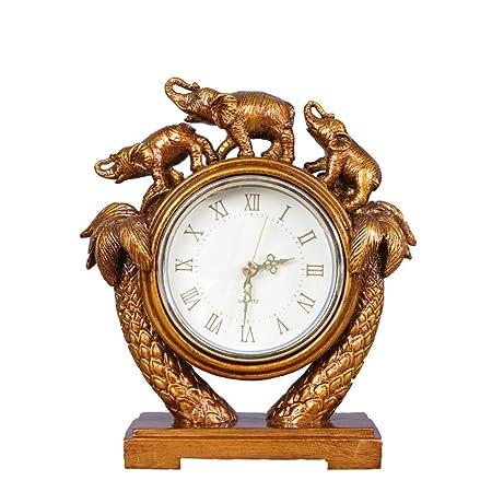Reloj LWF Escritorio Sala de Estar Mesa Mesa Decoración Elefante ...
