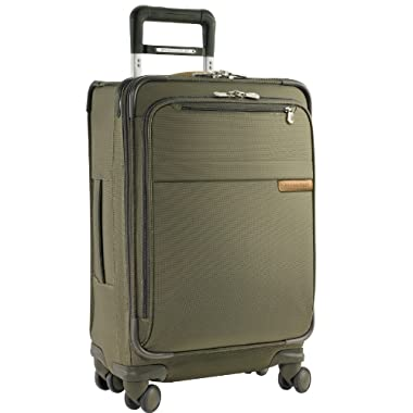 Briggs & Riley @ Baseline Luggage Baseline Domestic Carry-On Spinner Bag, Olive, Medium