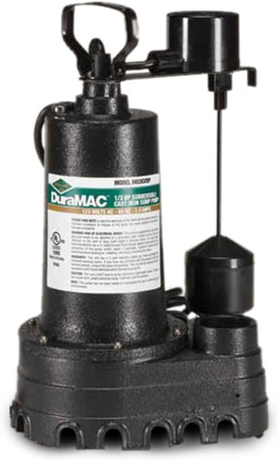 3//10 HP AY McDonald 6190-148 5030CVSP Cast Iron Vertical Sump Pump