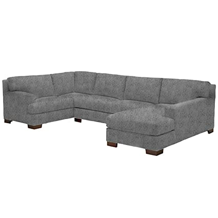 Amazon.com: Bradbury 3-Piece Sectional Sofa, Smoke, RAF ...