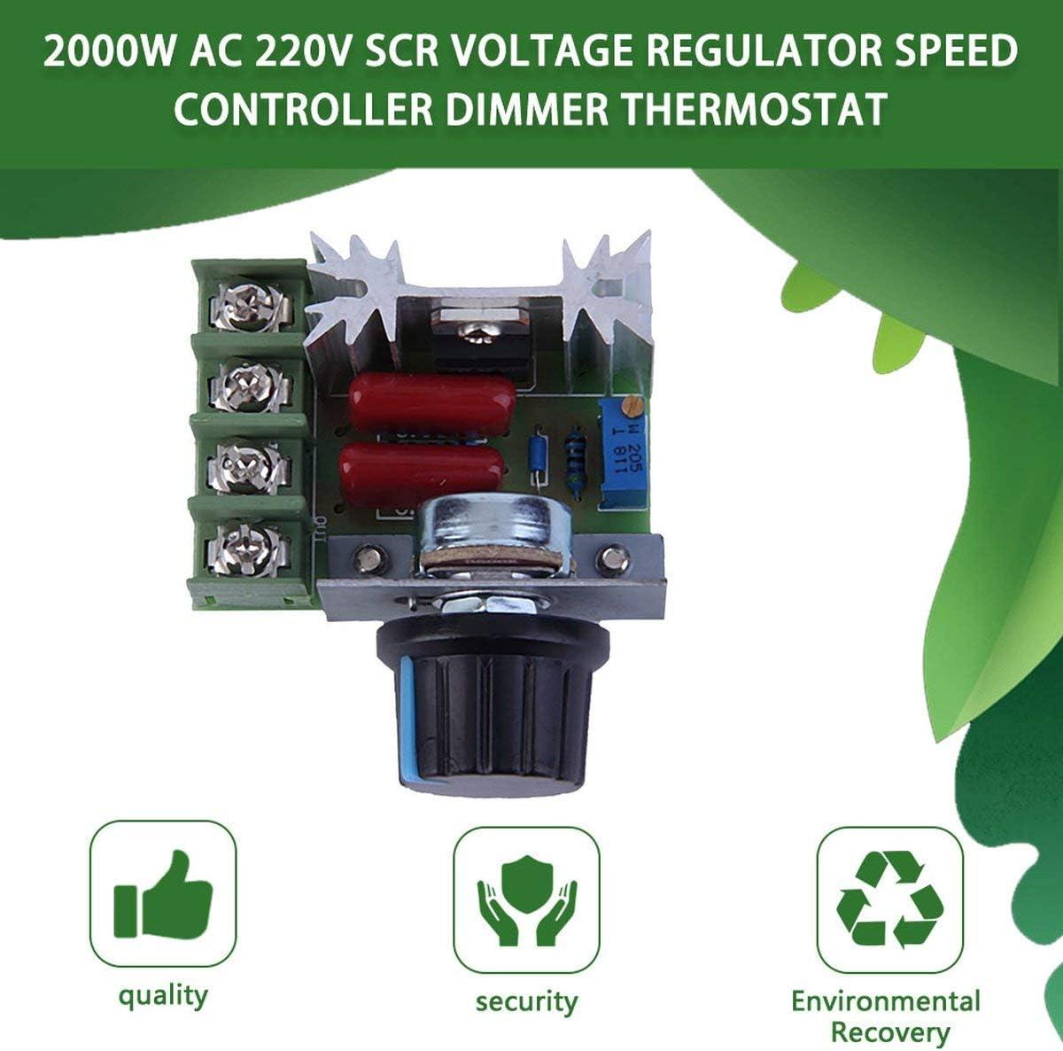regolatore di temperatura AC 220 V regolatore di velocit/à 2000 W SCR Regolatore elettronico di tensione di buona qualit/à