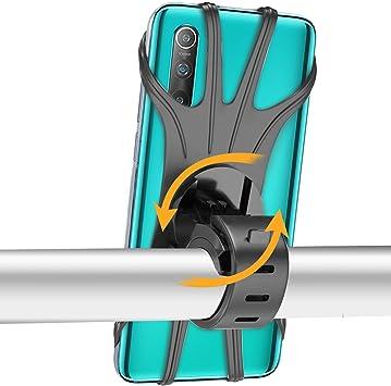 Oferta amazon: Epilum Soporte Movil Bicicleta, Universal Rotación 360° Soporte Manillar de Silicona Soporte Movil para Bicicleta Motocicleta Ciclismo GPS Nacigatore para iPhone 11 8 Plus X XS MAX XR Samsung