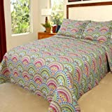 Lavish Home Melanie Quilt 3 Piece Set - Full-Queen