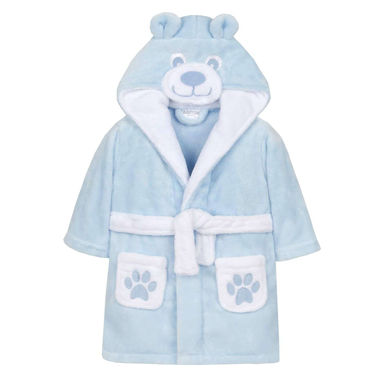 Baby Boys 3D Teddy Bear Dressing Gown Shoe Directory LB101526