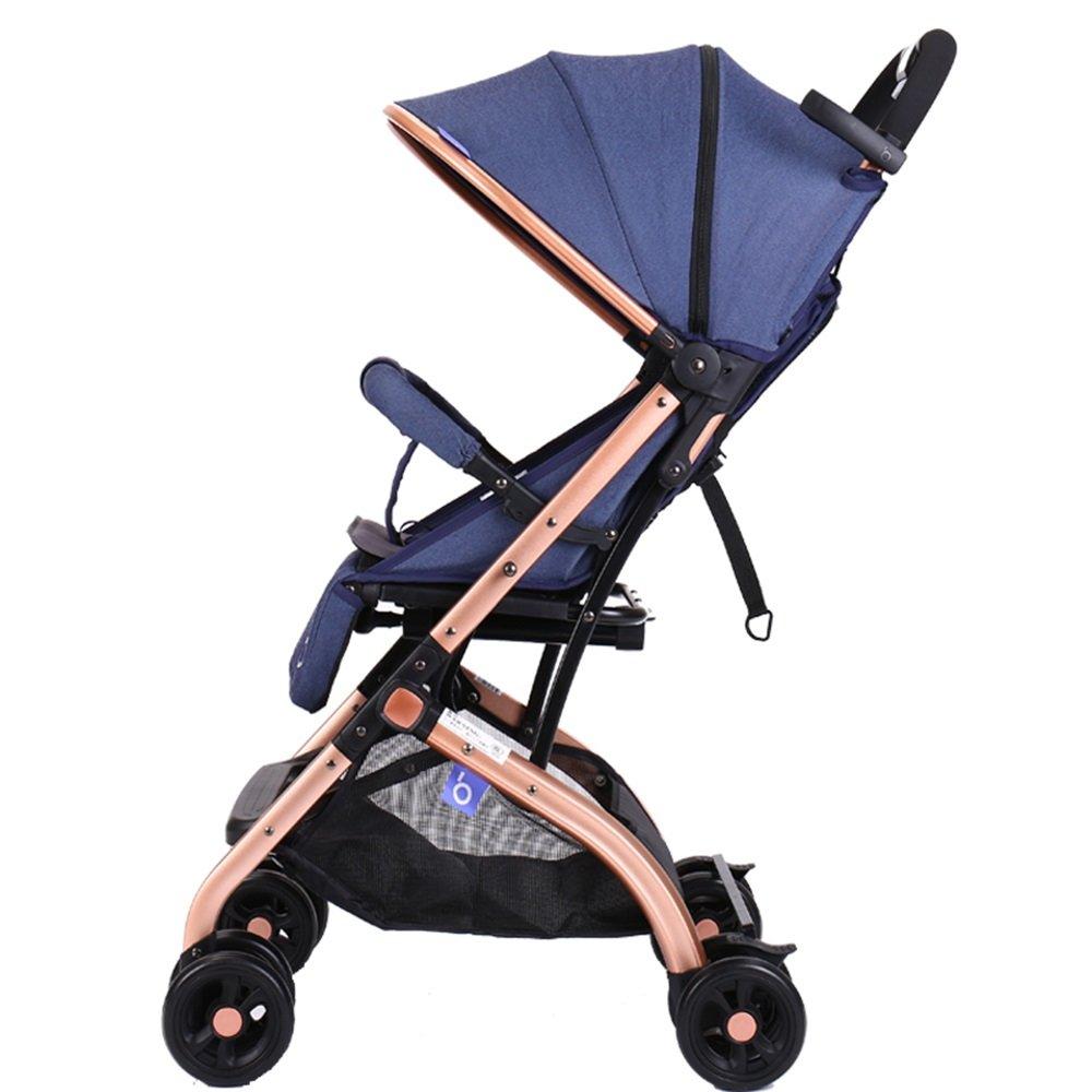 【代引き不可】 乳母車 座っている傘を倒すことができます子供のトロリーのベビーカー 使いやすい 乳母車 (色 B07HQGW61L : 青) 使いやすい 青 B07HQGW61L, コラボコスメ:0690d7ae --- a0267596.xsph.ru