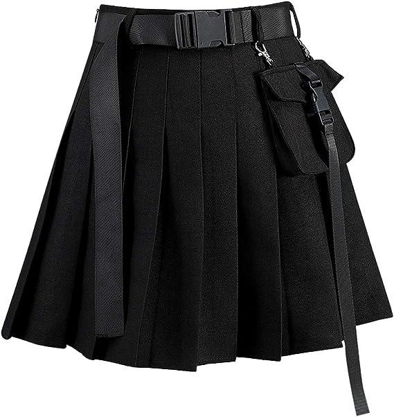 E-girl E1836 linea A Minigonna plissettata da donna