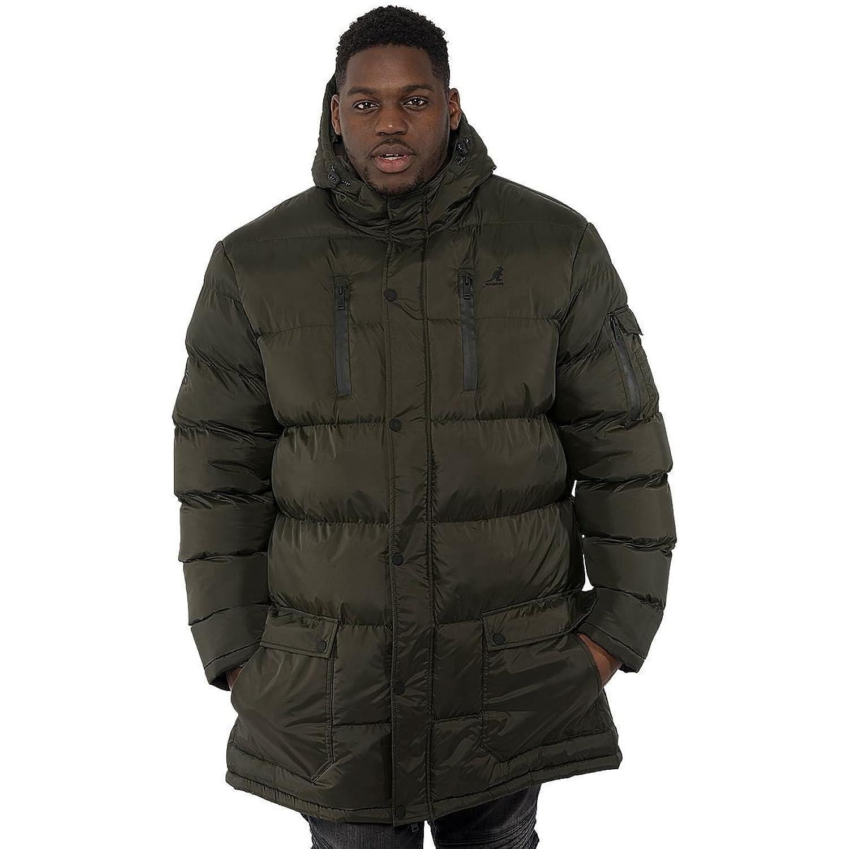 71991ab30 Kangol Big Mens Zip Up Plus Size Long Line Jacket Bubble Hooded ...