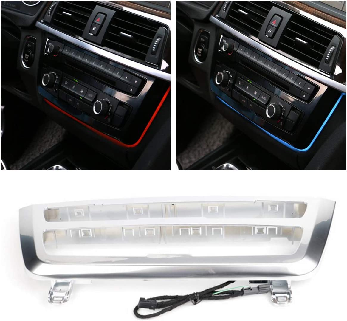 For BMW f30 Car Ambient lighting For BMW 3 4 Series F30 F35 3GT M3 M4 2012 2013 2014 2015 2016-2019 Carbon Fiber Center Console Lights Air Conditioning AC Panel Replacement Trim Interior Accessories