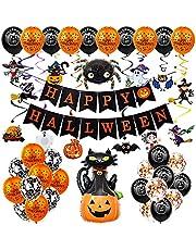 Halloween Ballonnen,Halloween Decoratie,Happy Halloween Slinger Decoratie,Happy Halloween ballonnen banner set,voor Kinderen Halloween Feest