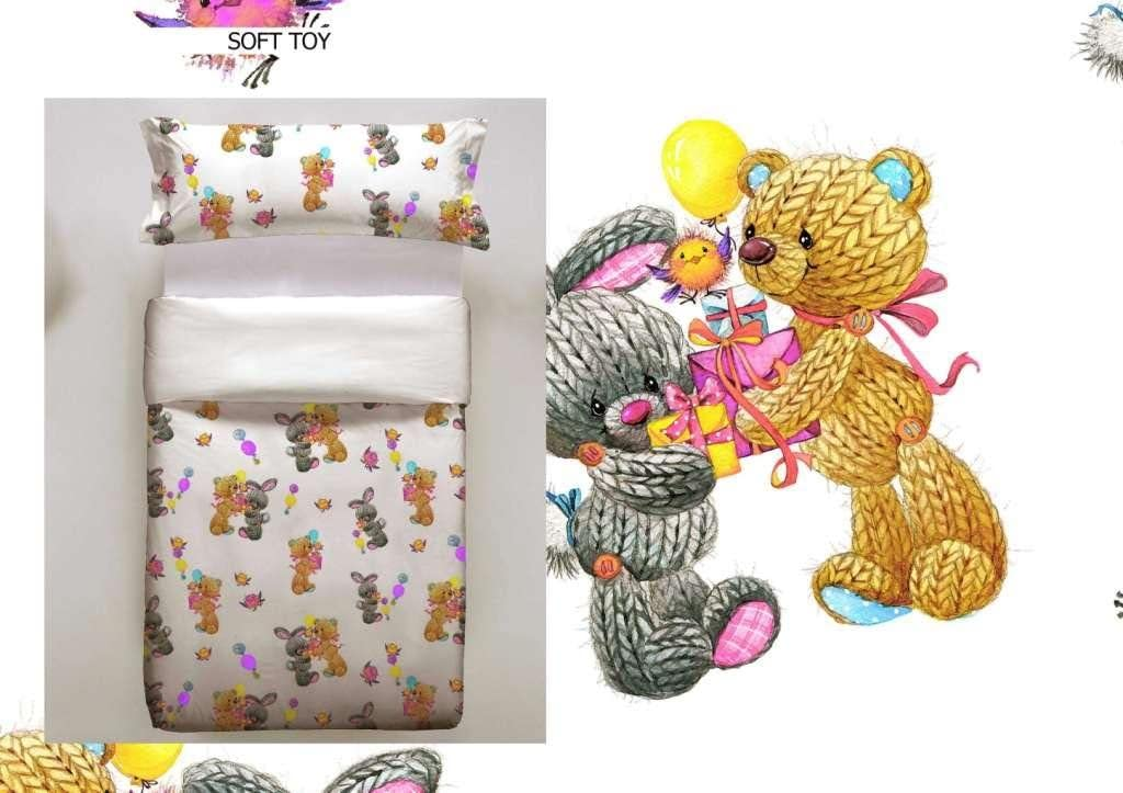 Don Algodon Kids.- Conjunto de funda nordica y almohada Soft Toy ...