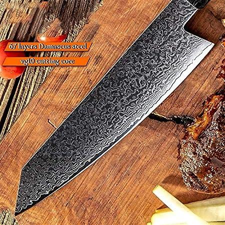 SCAYK Japonés Damasco Cuchillo Hecho a Mano Chef Cuchillo VG10 Japonés Damasco Kiritsuke Knifes Knifes Glow Mango Cocinar Herramientas de Corte Juegos de Cuchillos Juego de Cuchillos para tallar