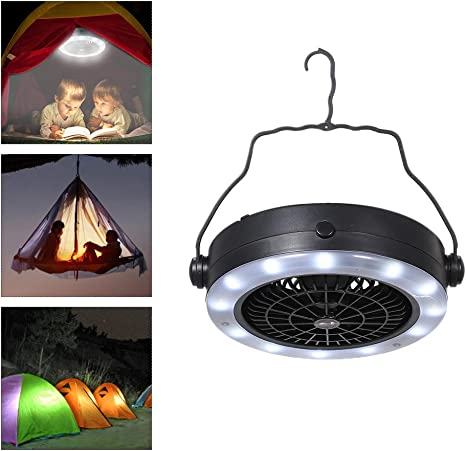Galapara Linterna de Camping, Linterna para Acampar con Ventilador de Techo Tienda de LED Ventilador de luz Ventilador de Pesca Linterna Alimentación por baterías para Senderismo, Aventura, Camping: Amazon.es: Hogar