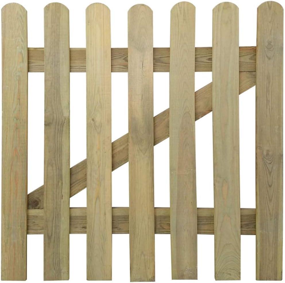 100 x 100 cm Aynefy Gartentor aus Holz Gartentor aus Massivholz