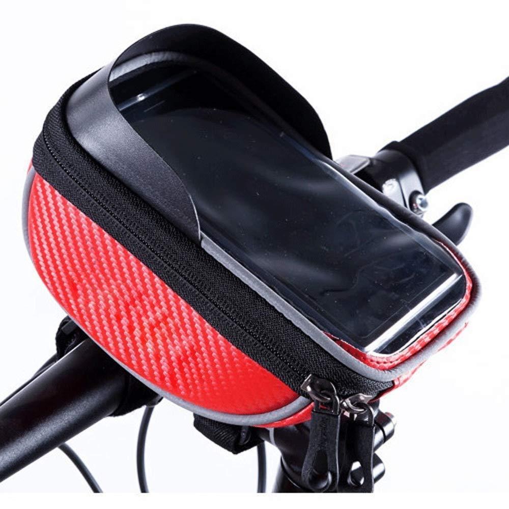 MYHXC Bike Frame Bag Waterproof Bike Front Tube Handlebar Bag Bicycle Bag with Touch Screen Phone Case 5.5 Inches by MYHXC