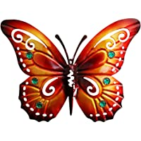 Yarnow Butterfly Wall Art Metal 3D Butterfly Wall Hanger Hanging Decorations Vintage Butterfly Crafts for Home Garden…