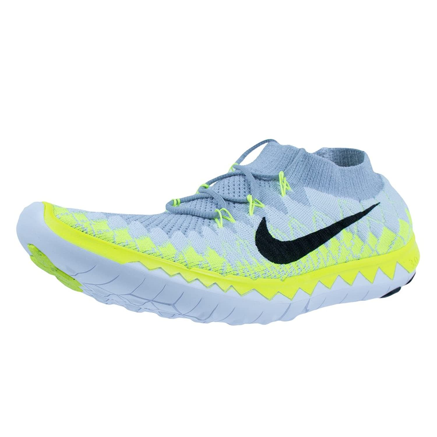 37e1ff7d4540c good Nike Free 3.0 Flyknit White   Black-Wolf Grey-Volt 636232 101 ...