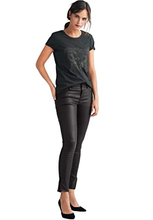 e0edbf291d119 Ellos Women's Plus Size Skinny Coated Jeans at Amazon Women's Clothing  store: