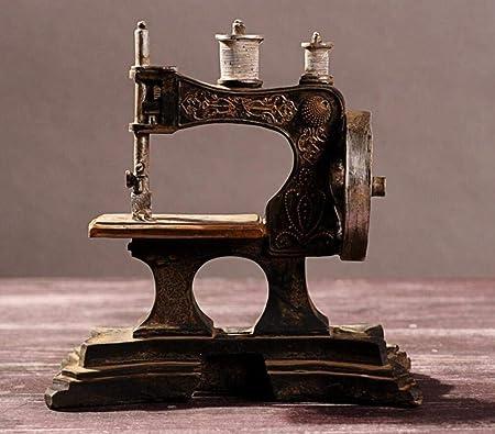 URL Vintage Antiguo Adornos artesanales máquina de Coser Decoraciones para el hogar: Amazon.es: Hogar