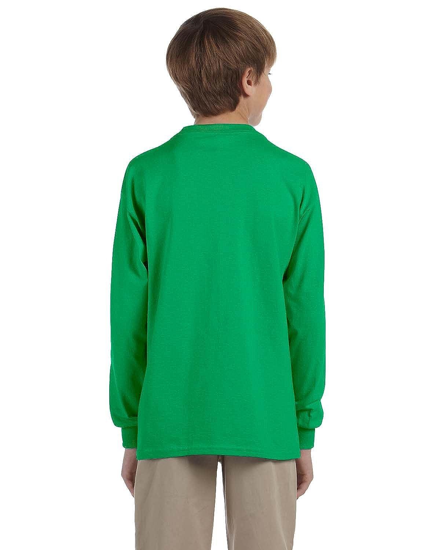 Gildan Boys 6.1 oz G240B -IRISH GREE -S-12PK Ultra Cotton Long-Sleeve T-Shirt