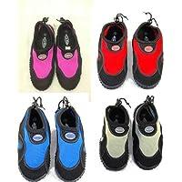 Blue Rush aqua shoe black/dark pink infant, childs and adult sizes