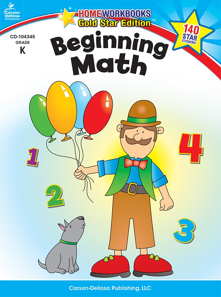 Beginning Math, Grade K: Gold Star Edition (Home Workbooks) PDF