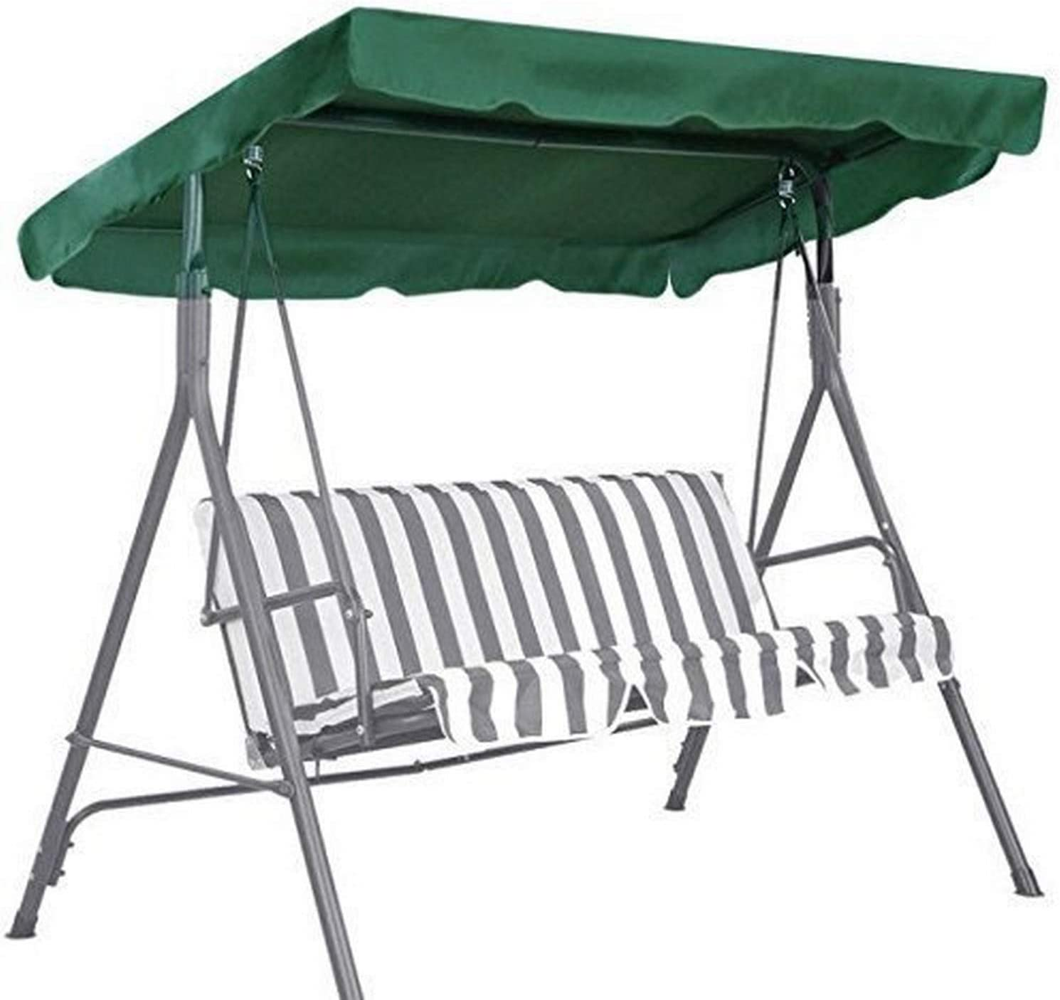 BenefitUSA Patio Outdoor Swing Canopy Replacement Porch Top Cover Seat Furniture, Green