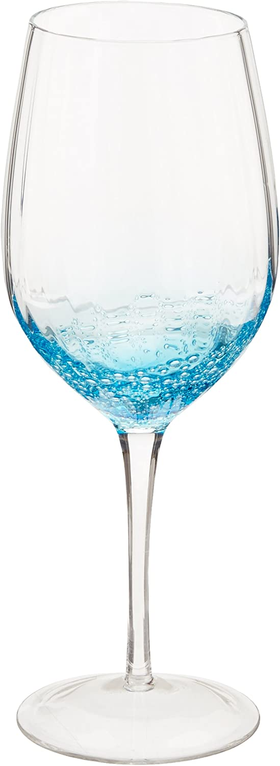 Blue Abbott Collection Optic Bubble Red Wine Glass