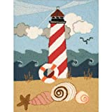 M C G Textiles Heritage Rug Hooking Kit, 20-Inch by 27-Inch, Lighthouse