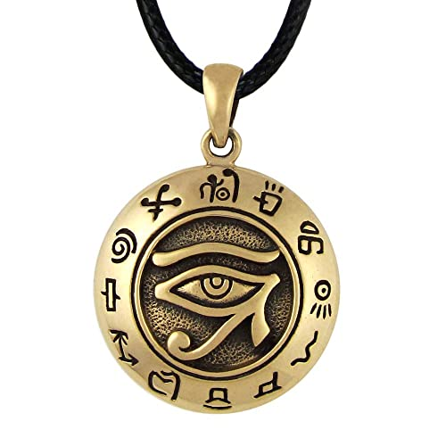 Amazon bronze egyptian udjat eye of horus ra pendant egyptian bronze egyptian udjat eye of horus ra pendant egyptian kemetic jewelry aloadofball Images