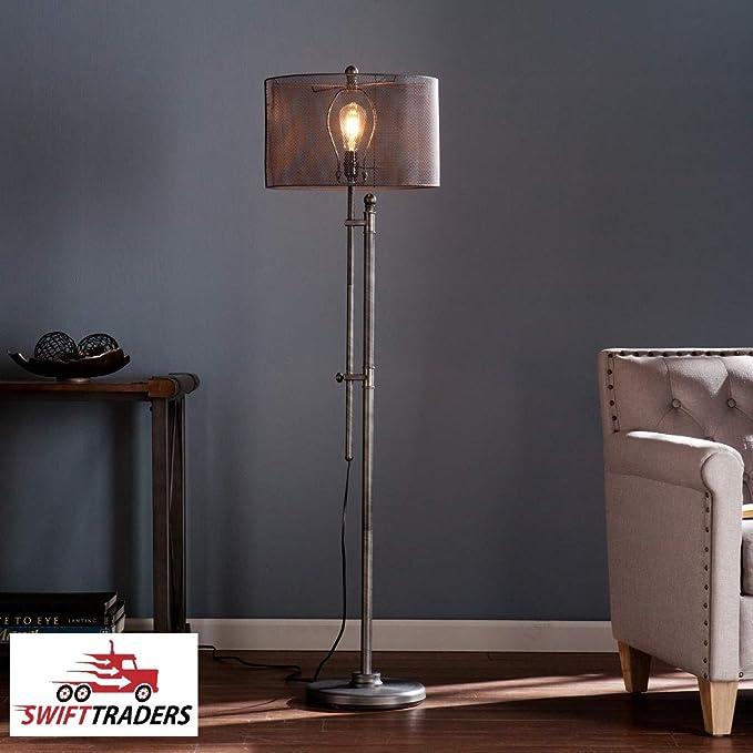 Amazon.com: Lámpara de pie de malla metálica de estilo ...