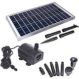 Solariver Solar Water Pump Kit - 360+GPH Submersible Pump with Adjustable Flow, 20 Watt Solar Panel for Sun Powered Fountain,
